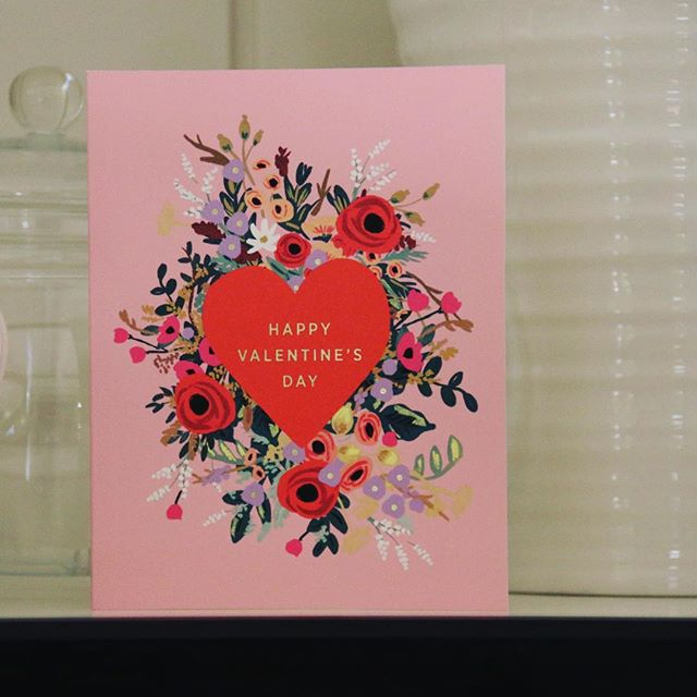 I think this little beauty from @riflepaperco will be up on my kitchen shelf for a lot longer than today!#riflepaperco #stationeryaddict #luxurystationery #valentines #greetingcards #love #thatsdarling #happy