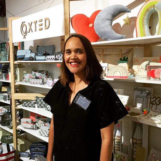 On a quick trip to Auckland NZ I popped in to see gorgeous sister-in-law @tamaratubbs at the @oxtednz stand at @sourcehomeobject displaying the outstanding  @merimeriparty 2017 collection. Fab display!!#merimeri #partyware #homeaccessories #cushions #happy #childrensroom