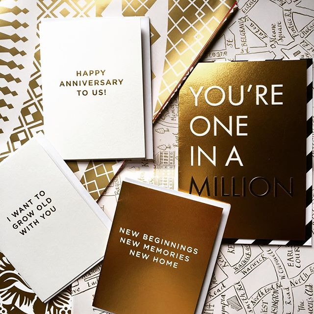 The Midas touch from @lagomdesign I'm rather partial to the flash of gold!These and many other gorgeous designs are coming your way very soon!#lagomdesign #gold #goldfoil #luxurystationery #greetingcards #giftwrapping #beautiful #stationeryaddict #cherished