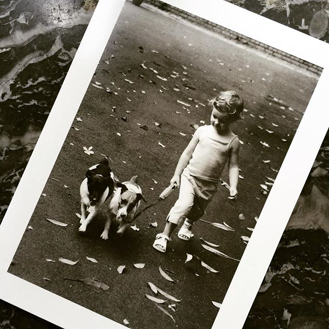 "Happy HAPPY 18th Birthday to my gorgeous girl! 🍾 This is my favourite card of all time, ""Walking the Dogs"", photo taken and card published by your Grandmother. Recording you at a very early age, ALWAYS an animal lover ️️#happybirthday #stationeryaddict #dogs #dogsofinsta #art #greetingcards #love #thatsdarling #motherslove #blackandwhitephotography"