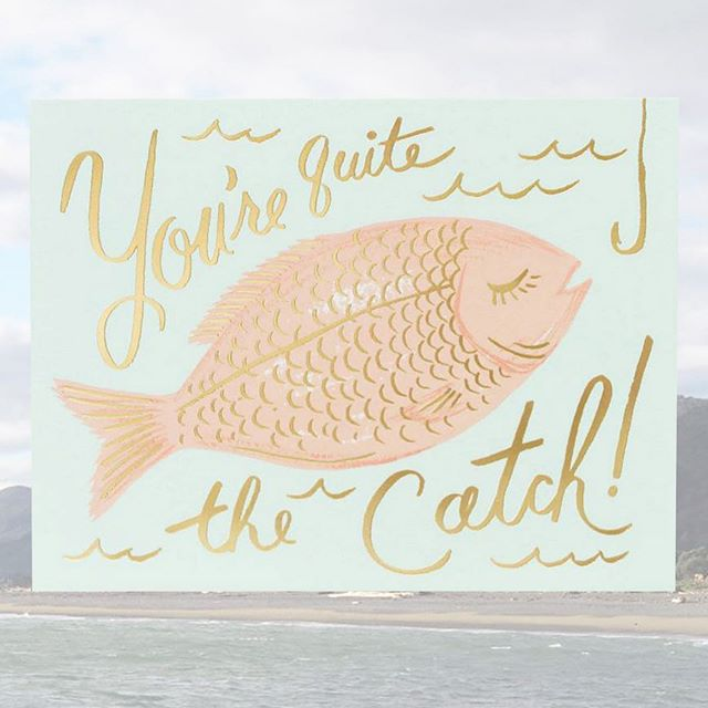 This lovely @riflepaperco card could be a pretty good hook to land a big one, but if you don't have any luck- there are plenty more fish in the sea! #giftcard #gooddesign #showyourlove #singaporeshopping #quitethecatch #fishing #typography #romance #giftideas #greetingcards