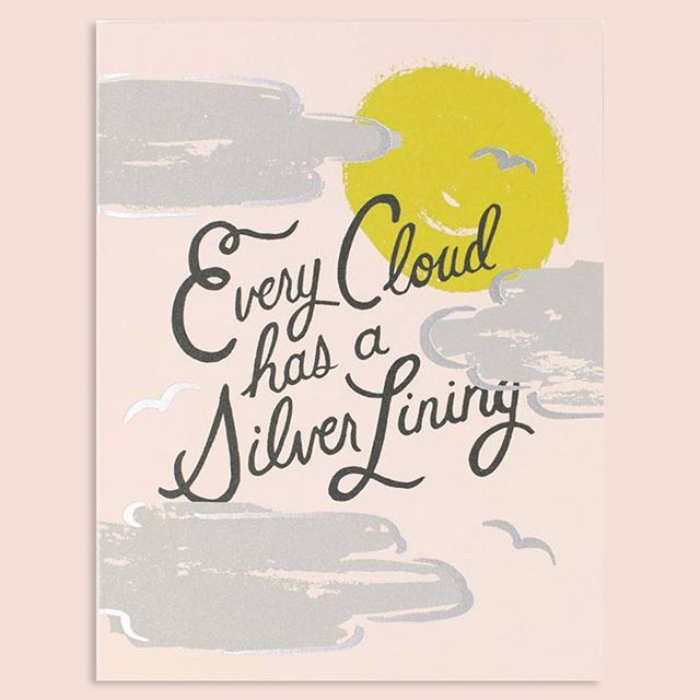 A card to comfort during life's thunderstorms ⛈@riflepaperco #riflepaperco #singaporeshopping #showyourlove #greetingcards #gooddesign #typography #silverlining #rainyday