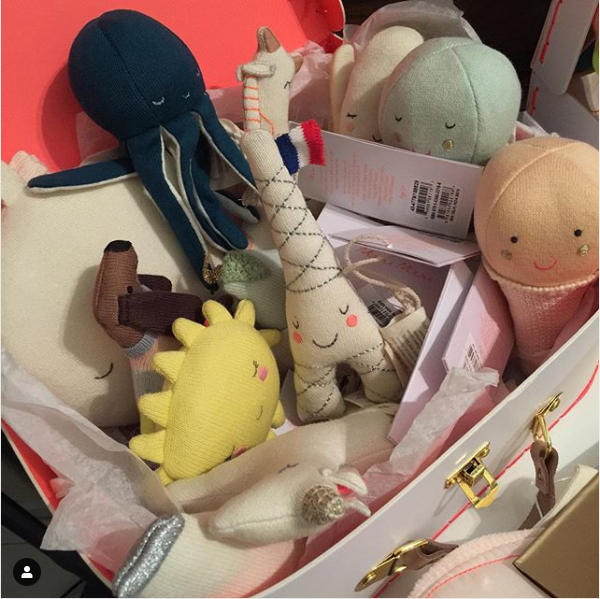Beautiful rattles from @merimeriparty for your beautiful little ones. There's even a little Cosmo!️️#merimeri #merimeriparty #rattles #beautifulbabies #sgbaby #babyshowerpresent #octopustoys #giftsforbabies #giftsformumstobe